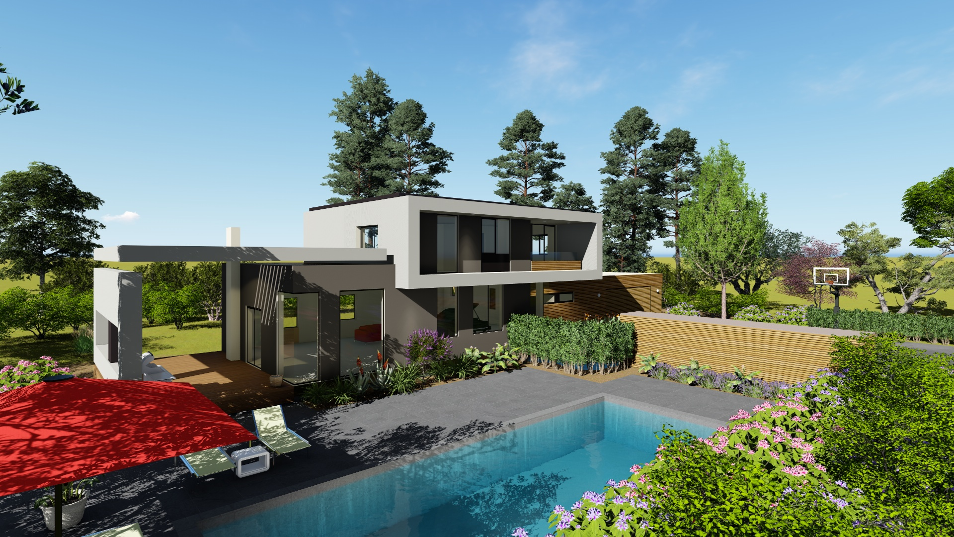 What we do prime habitat design build for Pool design kelowna